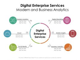 Digital Enterprise Services Modern And Business Analytics