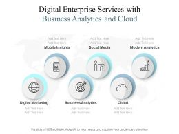 Digital Enterprise Services With Business Analytics And Cloud