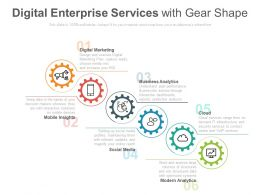 Digital Enterprise Services With Gear Shape