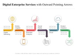 Digital Enterprise Services With Outward Pointing Arrows