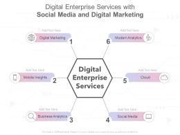 Digital Enterprise Services With Social Media And Digital Marketing