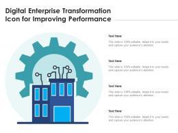 Digital Enterprise Transformation Icon For Improving Performance