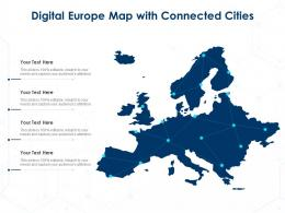 Digital Europe Map With Connected Cities