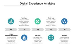 Digital Experience Analytics Ppt Powerpoint Presentation Icon Professional Cpb
