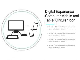 Digital Experience Computer Mobile And Tablet Circular Icon