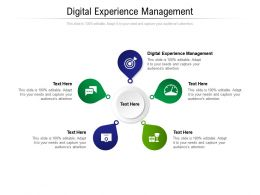 Digital Experience Management Ppt Powerpoint Presentation Ideas Information Cpb