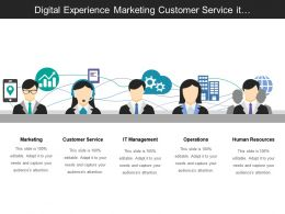 Digital Experience Marketing Customer Service It Management And Operations