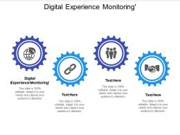 Digital Experience Monitoring Ppt Powerpoint Presentation Graphics Cpb