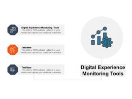 Digital Experience Monitoring Tools Ppt Powerpoint Presentation Template Cpb