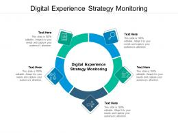 Digital Experience Strategy Monitoring Ppt Powerpoint Presentation Professional Ideas Cpb
