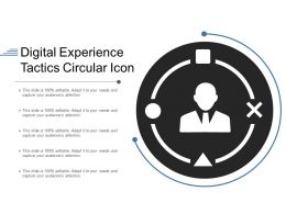 Digital Experience Tactics Circular Icon