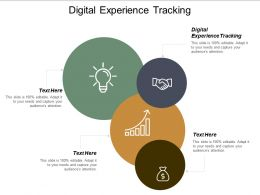 Digital Experience Tracking Ppt Powerpoint Presentation File Topics Cpb