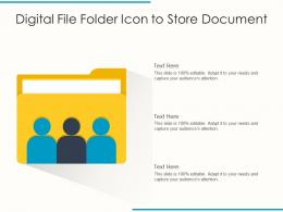Digital File Folder Icon To Store Document