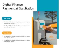 Digital Finance Payment At Gas Station