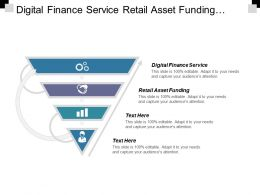 Digital Finance Service Retail Asset Funding Post Merger Integration Cpb
