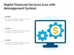 Digital Financial Services Icon With Management Symbol
