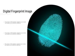 Digital Fingerprint Image