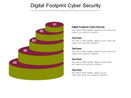 Digital Footprint Cyber Security Ppt Powerpoint Presentation Model Elements Cpb