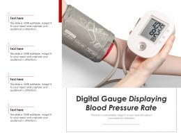 Digital Gauge Displaying Blood Pressure Rate
