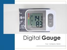 Digital Gauge Displaying Measuring Thermometer Speedometer
