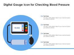 Digital Gauge Icon For Checking Blood Pressure