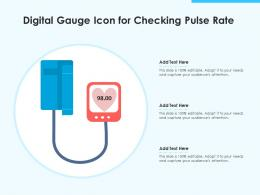 Digital Gauge Icon For Checking Pulse Rate