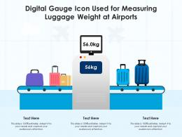 Digital Gauge Icon Used For Measuring Luggage Weight At Airports