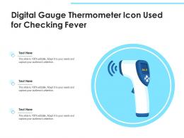 Digital Gauge Thermometer Icon Used For Checking Fever