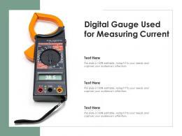 Digital Gauge Used For Measuring Current
