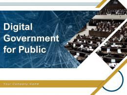 Digital Government For Public Powerpoint Presentation Slides