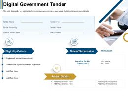 Digital Government Tender Avenue Ppt Powerpoint Presentation File Demonstration