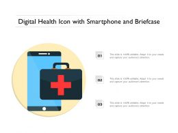 Digital Health Icon With Smartphone And Briefcase