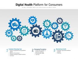 Digital Health Platform For Consumers