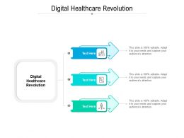 Digital Healthcare Revolution Ppt Powerpoint Presentation Icon Format Ideas Cpb