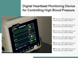 Digital Heartbeat Monitoring Device For Controlling High Blood Pressure