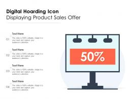 Digital Hoarding Icon Displaying Product Sales Offer