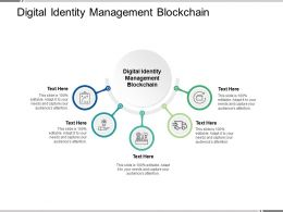 Digital Identity Management Blockchain Ppt Powerpoint Presentation Outline Rules Cpb