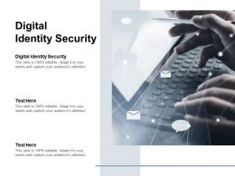 Digital Identity Security Ppt Powerpoint Presentation Outline Example Cpb