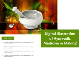 Digital Illustration Of Ayurvedic Medicine In Making