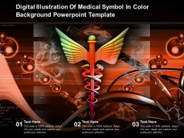 Digital Illustration Of Medical Symbol In Color Background Powerpoint Template