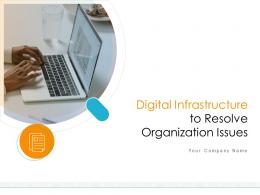 Digital Infrastructure To Resolve Organization Issues Powerpoint Presentation Slides