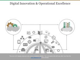 Digital Innovation And Operational Excellence Powerpoint Slides