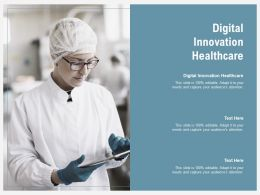 Digital Innovation Healthcare Ppt Powerpoint Presentation Infographic Template Templates Cpb