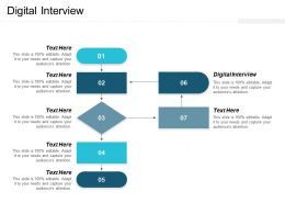 Digital Interview Ppt Powerpoint Presentation Outline Visual Aids Cpb