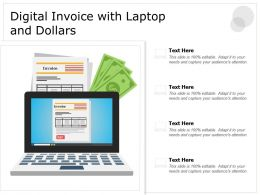 Digital Invoice With Laptop And Dollars