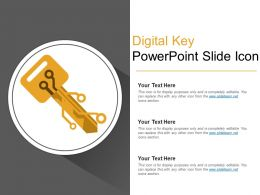 Digital Key Powerpoint Slide Icon