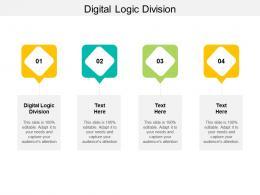 Digital Logic Division Ppt PowerPoint Presentation Visual Aids Model Cpb