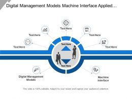 Digital Management Models Machine Interface Applied Machine Learning
