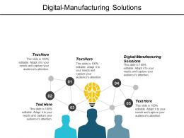 Digital Manufacturing Solutions Ppt Powerpoint Presentation Infographics Tips Cpb