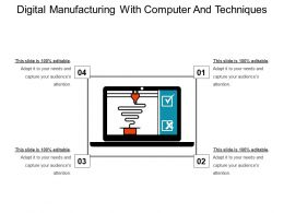 Digital Manufacturing With Computer And Techniques